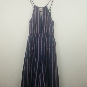 Jumpsuit Universal Thread S wide leg striped blue